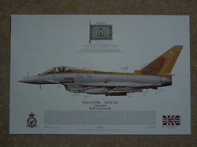 Royal Air Force 6  Squadron RAF Lossiemouth SIGNED Print