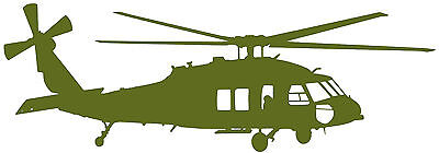 SIKORSKY S70 'BLACKHAWK' ARMY HELICOPTER- High Quality Adhesive Vinyl Decal