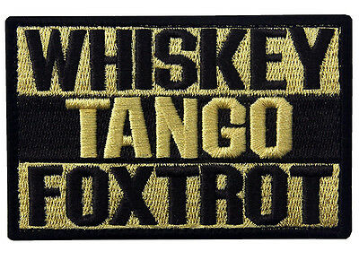 Fox-Trot  Army Morale Tactical Morale Badge  Patch  Sh   656