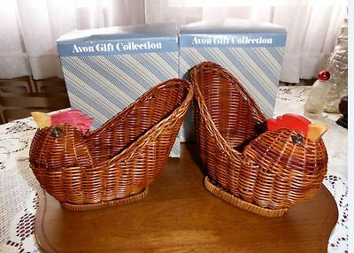 Vintage Avon Wicker Menagerie (Hen) - two boxed