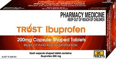 96 Tabs Same As Nurofen 200Mg (Ibuprofen) Australian Made 96 Tabs