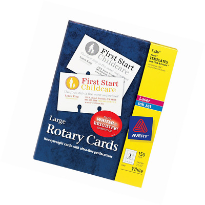Avery Rotary Cards, Laser and Ink Jet Printers, 3 x 5 Inches, 150 Cards per Box