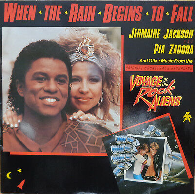 """12"""" Maxi Jermaine Jackson And Pia Zadora When The Rain Begins To Fall,cleand"""