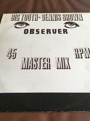 Big Youth. Dennis Brown - Observer Master Mix -  12 Inch - Mint-