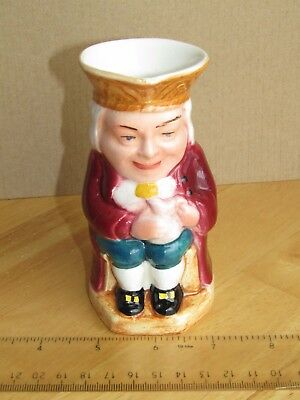Vintage Burlington Ware Character Collectable Toby Jug J.Shaw & Sons ;12 cm tall