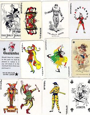 "12 RARE VINTAGE ""Mixed Lots"" JOKER Playing Cards #268"