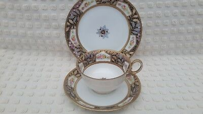 Stunning Hand Painted And Gilded Noritake Trio Nippon