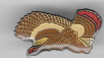 Vintage Flying Wild Turkey e5 old enamel pin