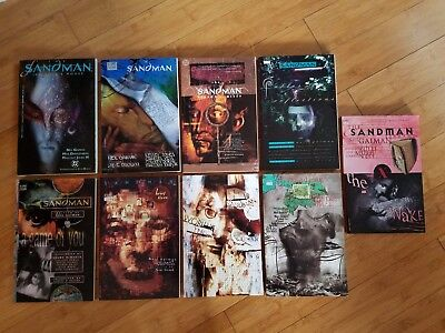 Lot of Neil Gaiman The Sandman collections, inc World's End, A Game of You, Brie