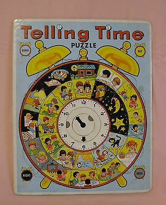 Telling Time Puzzle Warren Paper Products Company Vintage Estate Find