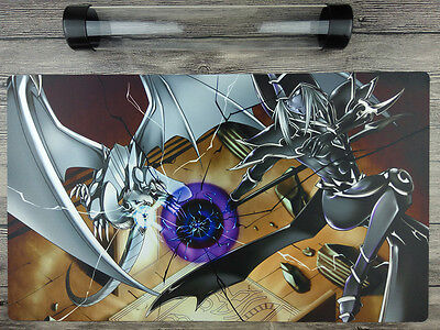 YGO Blue-Eyes White Dragon & Dark Magician Template Playmat Free Best Tube
