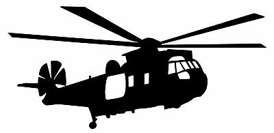 WESTLAND SEAKING MARITIME SAR HELICOPTER-  Quality *Adhesive Vinyl Decal*