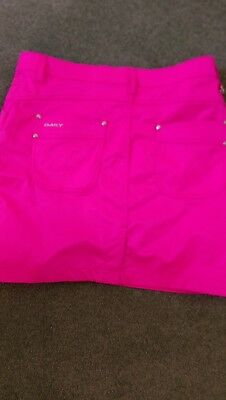 ladies daily sports golf xds skirt pink size 12