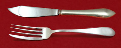 Pointed Anique by R&B D&H Sterling Silver Individual Fish Set 2pc Custom Made