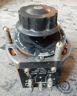 Large Berco Regavolt 72A Open Variac. 275V, 10 Amps. With Switch And Fittings