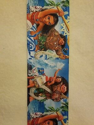 "7//8/"" DISNEY MOANA 2 GROSGRAIN RIBBON BY THE YARD USA SELLER HAIR BOWS MAUI"