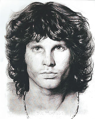 Jim Morrison The Doors 8 X 10 Photo Art With Ultra Pro Toploader