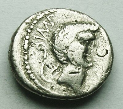 Very Rare Mark Antony Ar Denarius (20Y)