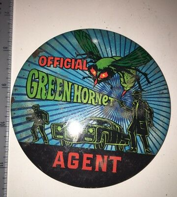 Vintage 1966 TV Green Hornet Pin-Back Button