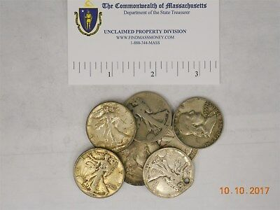 (7) Us Silver 50 Cent