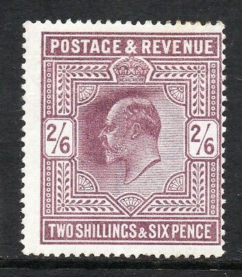 GB KEVII SG261 2/6d Pale Dull Purple Chalky Mint Hinged Cat £350