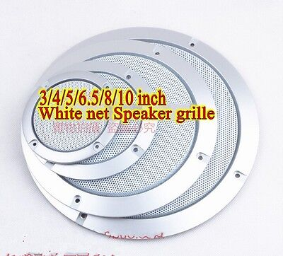 1pcs 3/4/5/6.5/8/10 inch White net Speaker grille decorative circle protective
