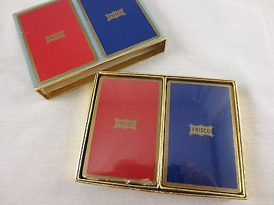 FRISCO RAILROAD Double Deck Congress Playing Cards Trains Sealed
