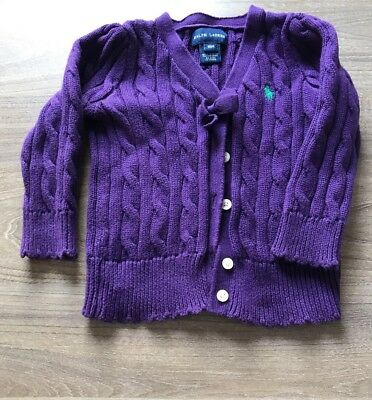 girls Ralph Lauren Cardigan Age 18 Months