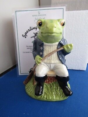 Fly Fishing Limited Edition Sporting Characters Frog John Beswick  England
