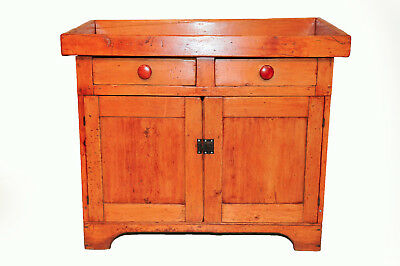 Early American Antique Rustic Dry Sink, Pine, Circa 1900's