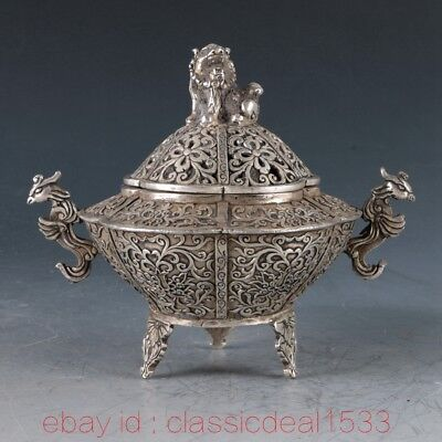 Chinese Bronze Handwork Carved Phoenix Incense Burner / XuanDe Mark PA1010