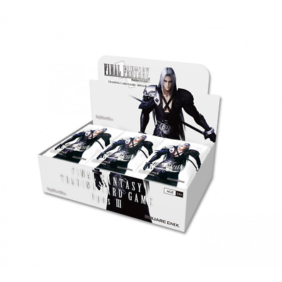 NEW Final Fantasy VII TCG (Trading Card Game) Opus 3 III Boosters: 3 Packs