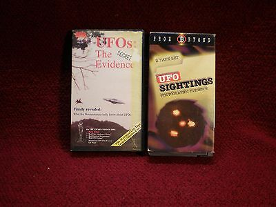 UFOS: The Secret Evidence & UFO Sightings Photographic Evidence USED VHS Lot