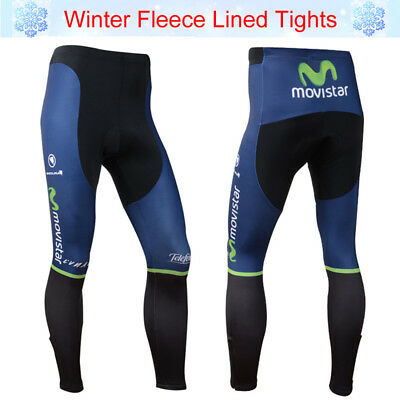 M Size Men Team Cycling Race Long Pants Winter Thermal Fleece Bicycle Tights Pad