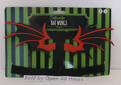 Fright Nite Halloween Dog Puppy Bat Wings Horror Fancy Dress Small Or Large