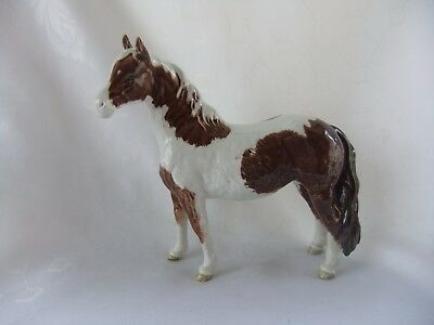"Beswick Skewbald Pinto  Pony No. 1373  First Version Tail Attached - 6 1/2"" High"