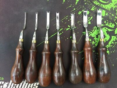 Vintage Set Of Gomph French Edgers #0, 1, 2, 3, 4, 5, 6