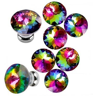 Yazer Colorful Durable Fashion Glass Knobs for Dresser Drawer Cabinet,Mini and
