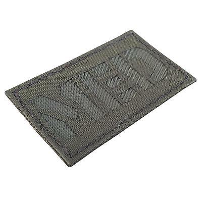 Medical EMS MED olive drab green morale tactical 3 laser touch fastener patch