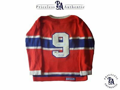 VERY RARE Punch Line Signed Montreal Canadiens Jersey RICHARD + BLAKE + LACH!