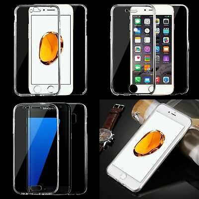 Double-sided Protective Cover Case Clear TPU Full Body 360° Screen Protector