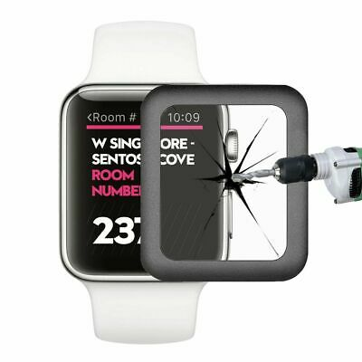 New Apple Watch 0.2mm Metal Edge Glass Screen Protector 9H Crystal Clear 38mm