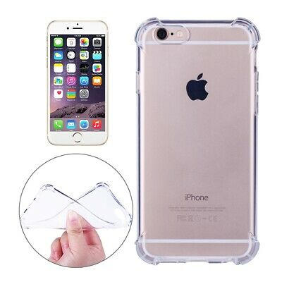 Shock Proof Crystal Clear Silicone Gel Bumper Cover Case iPhone XS, X 8 7 6s 6,