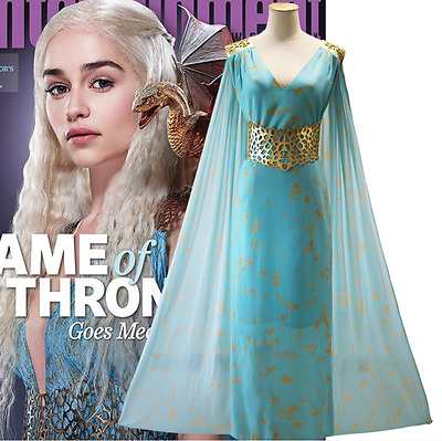 Dress Daenerys Targaryen Robe Costume Halloween Cosplay Game of Thrones season 7