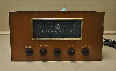 The Fisher Medalist Series II, R-20 * AM/FM Tube Tuner, Preamp, Amp. *Untested*