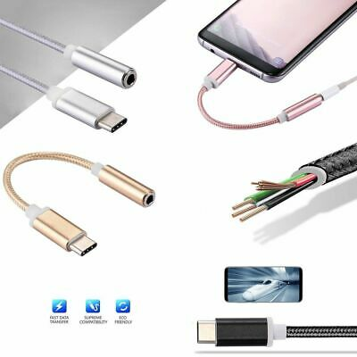 USB 3.1 Type-C to 3.5mm Female Audio AUX Cable Adaptor Car System 10cm