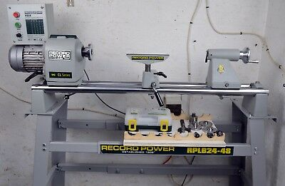 Record Power CL4 Variable Speed Lathe, 2016 Model, + Stand M33 x 3.5mm, 2MT, 1hp