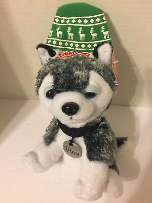 2014 Pepsi-Cola Plush Stuffed Husky Dog Boyd Gaming Christmas
