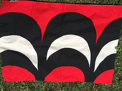 Marimekko Finland Kaivo Fabric Maija Isola Red Black