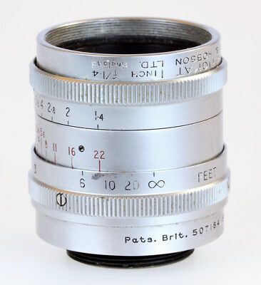 Taylor & Hobson Cooke Ivotal Anistigmat 1 inch f1.4 C-Mount Lens - (Poor Cond.)